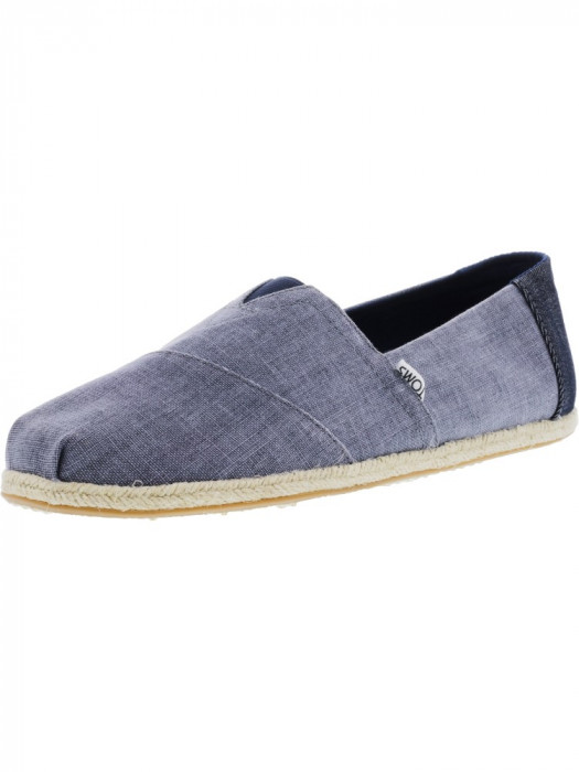 Toms barbati Classic Coated Linen Rope Deep Ocean Ankle-High Canvas Flat Shoe foto mare