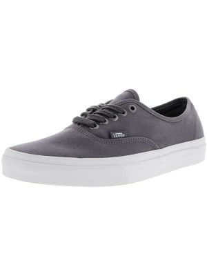 Vans Authentic Multi Eyelets Perforated / Gray Ankle-High Canvas Skateboarding Shoe foto