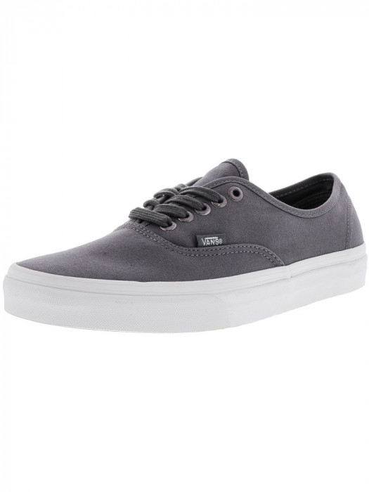 Vans Authentic Multi Eyelets Perforated / Gray Ankle-High Canvas Skateboarding Shoe foto mare