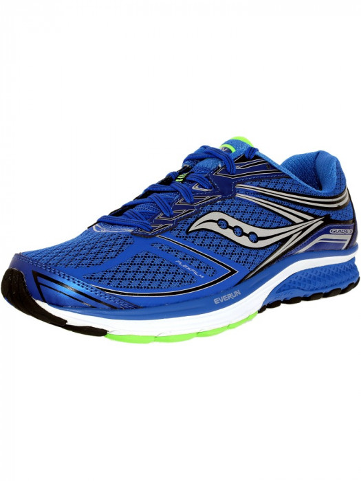 Saucony barbati Guide 9 Blue/Slime/Black Ankle-High Nylon Running Shoe foto mare