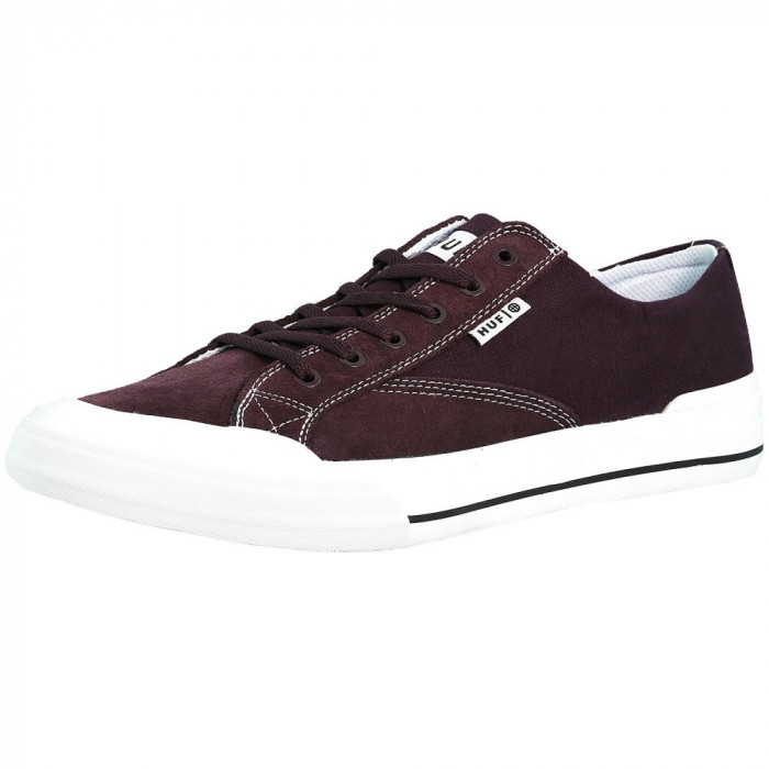 Huf barbati Classic Lo Ess Wine Ankle-High Suede Skateboarding Shoe
