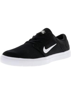 Nike barbati Sb Portmore Ultralight Black / White-Black Ankle-High Skateboarding Shoe foto