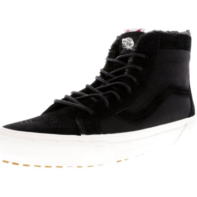 Vans barbati Sk8-Hi Zip To Mte Ca Black / Fleece High-Top Skateboarding Shoe foto