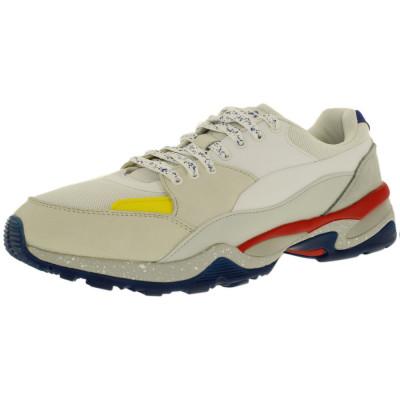 Puma barbati Mcq Tech Runner Lo White/Glacier Gray/Flame Scarlet Low Top Fabric Tennis Shoe foto