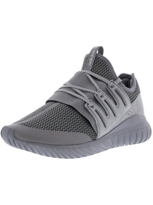 Adidas barbati Tubular Radial Charcoal Solid Grey / Ankle-High Fabric Fashion Sneaker foto