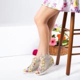 Sneakersi Franchet bej cu platforma