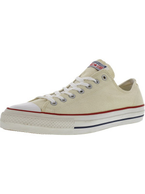 Converse Chuck Taylor All Star Pro Ox Natural / White Ankle-High Leather Fashion Sneaker foto