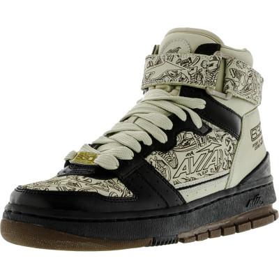 Avia barbati 1Ma95901 Black / Khaki Brown Gold High-Top Fashion Sneaker foto