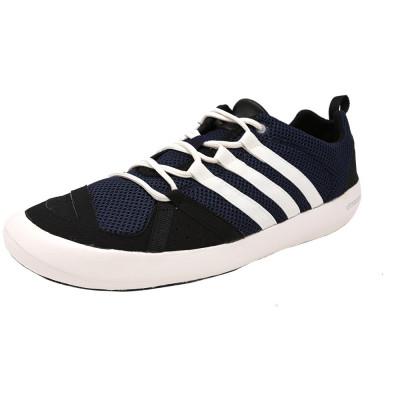 Adidas barbati Climacool Boat Lace Collegiate Navy / Core White Black Ankle-High Fashion Sneaker foto