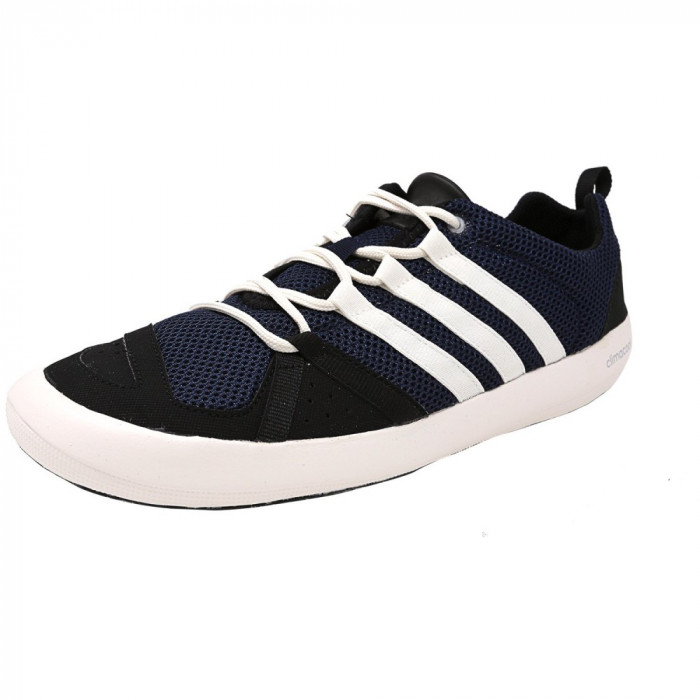 Adidas barbati Climacool Boat Lace Collegiate Navy / Core White Black Ankle-High Fashion Sneaker foto mare