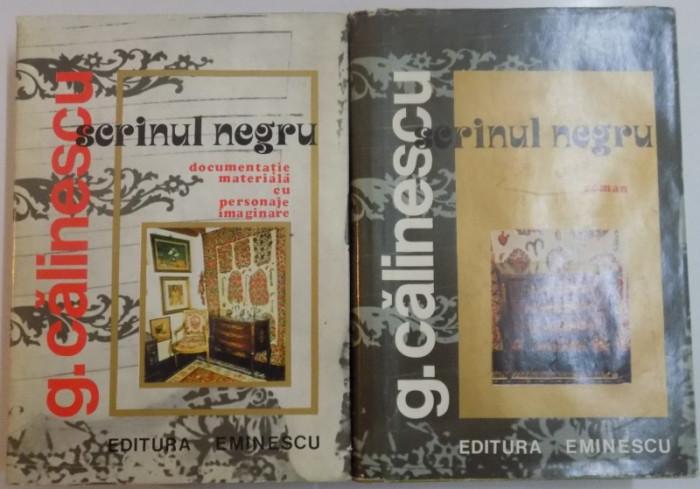 SCRINUL NEGRU , ROMAN+ DOCUMENTATIE MATERIALA CU PERSONAJE IMAGINARE DE GEORGE CALINESCU 1977 foto mare