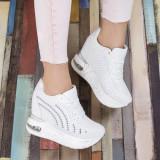 Sneakers Michala albi cu aplicatii