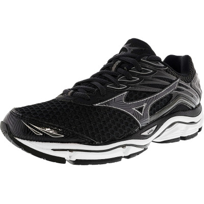Mizuno barbati Wave Enigma 6 Black / Grey Silver Ankle-High Running Shoe foto