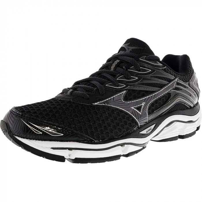 Mizuno barbati Wave Enigma 6 Black / Grey Silver Ankle-High Running Shoe foto mare