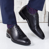 Pantofi barbati Piele Manwil negri eleganti