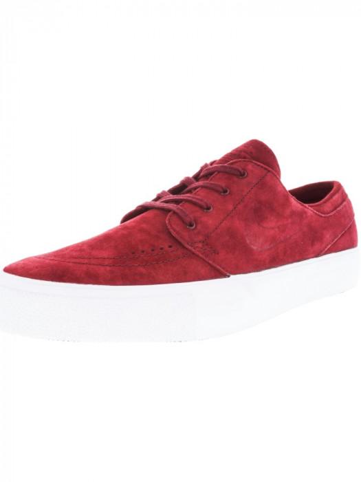 Nike barbati Zoom Stefan Janoski Prem Ht Team Red / White Low Top Suede Skateboarding Shoe foto mare