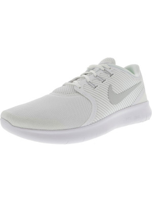 Nike barbati Free Rn Cmtr White / Pure Platinum Ankle-High Running Shoe foto