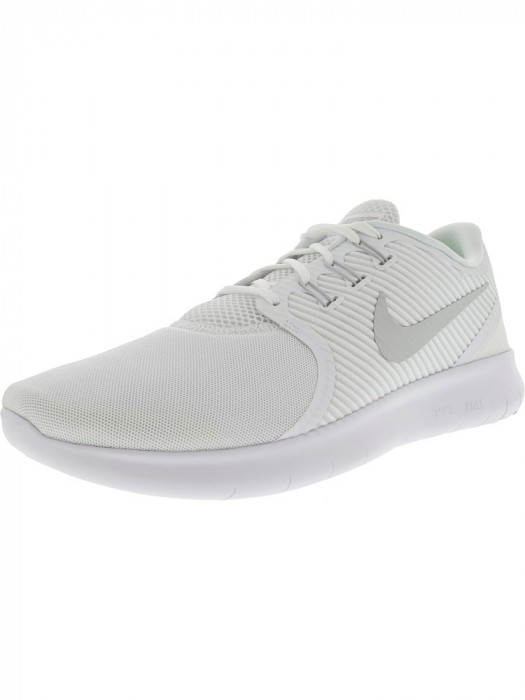 Nike barbati Free Rn Cmtr White / Pure Platinum Ankle-High Running Shoe