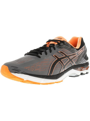 Asics barbati Gel-Pursue 3 Carbon / Black Hot Orange Ankle-High Fabric Running Shoe foto