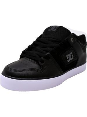 Dc barbati Pure Se Black / White Armor Ankle-High Leather Skateboarding Shoe foto