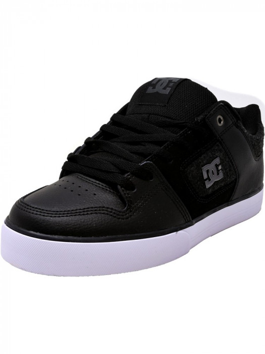 Dc barbati Pure Se Black / White Armor Ankle-High Leather Skateboarding Shoe foto mare