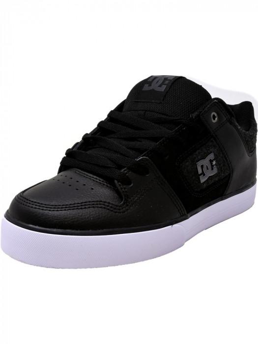 Dc barbati Pure Se Black / White Armor Ankle-High Leather Skateboarding Shoe