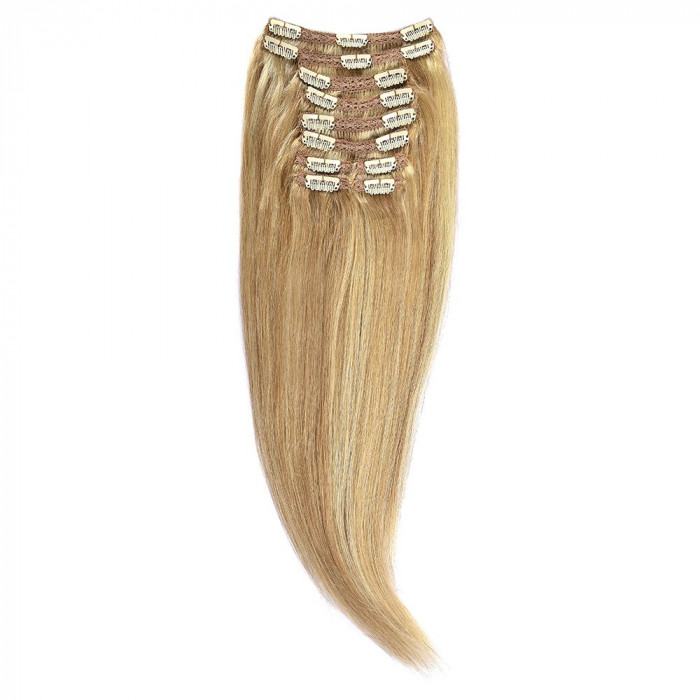 Clip-On Par Natural Volum 50cm 180gr Blond Miere Suvitat/Blond Deschis #27/60