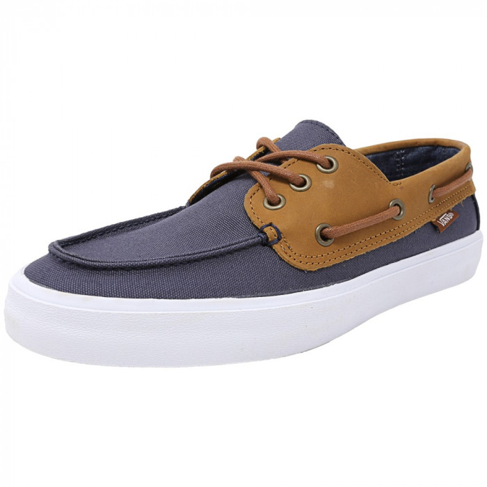 Vans barbati Chauffeur Sf C And L Navy / Chambray Ankle-High Leather Flat Shoe