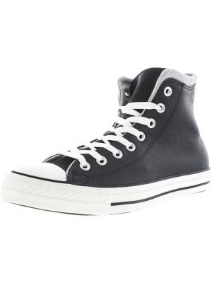 Converse Chuck Taylor All Star Hi Black / Egret Dolphin High-Top Leather Fashion Sneaker foto