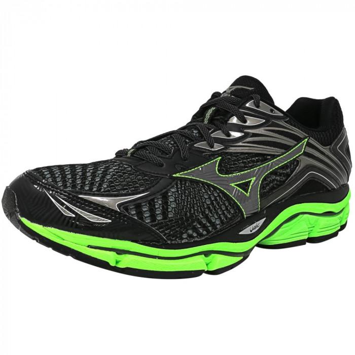Mizuno barbati Wave Enigma 6 Black / Grey Green Ankle-High Running Shoe foto mare
