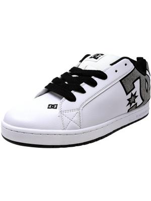 Dc barbati Court Graffik Se White / Heather Grey Ankle-High Leather Skateboarding Shoe foto