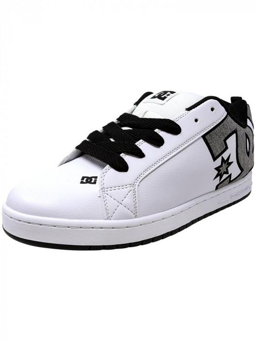 Dc barbati Court Graffik Se White / Heather Grey Ankle-High Leather Skateboarding Shoe