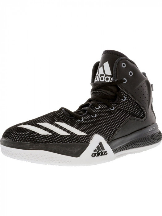 Adidas barbati Dt Bball Mid Core Black / Ftw White Dark Grey Ankle-High Fabric Basketball Shoe