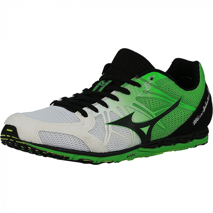 Mizuno barbati Wave Ekiden 9 White / Black Green Ankle-High Running Shoe foto mare