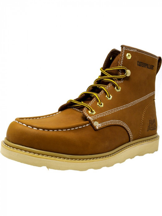 Cat barbati Glenrock Mid Golden Coast Mid-Calf Leather Industrial and Construction Shoe