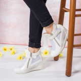 Sneakers dama Tiffany albi comozi