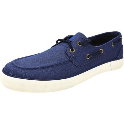 Polo Ralph Lauren barbati Rylander-Sk-Vlc Twill Newport Navy Ankle-High Flat Shoe foto