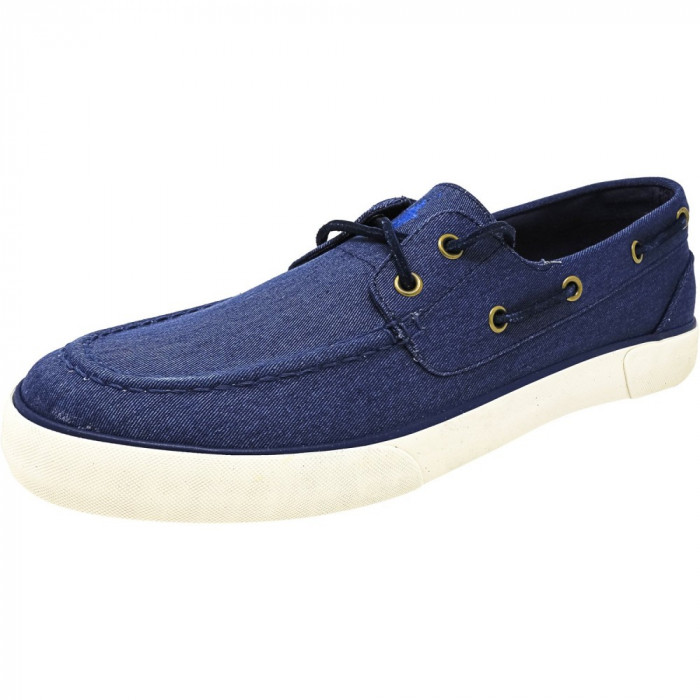 Polo Ralph Lauren barbati Rylander-Sk-Vlc Twill Newport Navy Ankle-High Flat Shoe foto mare
