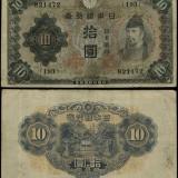 Japonia, 10 yeni, fără o dată (1930)