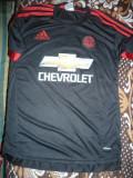 Tricou al Echipei Fotbal Manchester United ,Jucator nr.7 Dimaria, firma Adidas, S, Negru