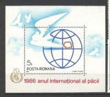 Romania.1986 Anul internatinal al Pacii-colita YR.820, Nestampilat