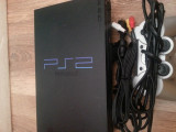 Playstation 2 ps 2 ps2 Sony modat + 1 joc de karate Mortal Komabat sau Takken 5