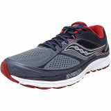 Saucony barbati Guide 10 Grey / Navy Red Ankle-High Running Shoe, 43, 45, 47 1/3