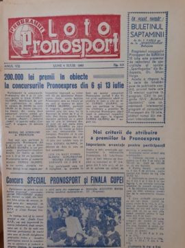 Programe Loto anii 1960 -14 in total unul din anul 1957