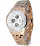Ceas de LUX  8 diamante , CONSTANTIN DURMONT  placat cu  AUR , mecanism japonez