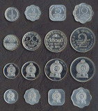 SRI LANKA █ SET DE MONEDE █ 1, 2, 5, 10, 25, 50 Cent, 1, 2 Rupee █ 1978-2006 UNC, Asia