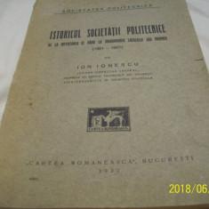 Istoricul societatii politecnice-ion ionescu an 1927