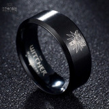 Inel Witcher 3 negru marime 10 / 62 mm