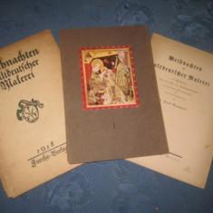 Album vechi 1918-Set 15 reproduceri foto-Craciunul in pictura germana veche.