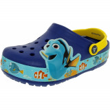 Crocs Boys Kids Crocslights Finding Dory Cerulean Blue/Lemon Ankle-High Rubber Flat Shoe